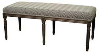 Kate Bench, Charcoal/White - One Kings Lane