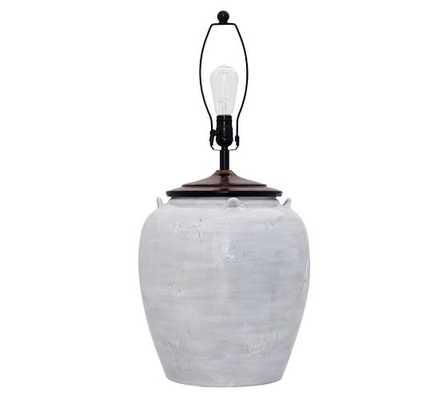 Courtney Ceramic Large Table Lamp Base - Large - Pottery Barn