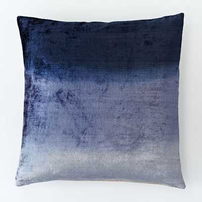 """Ombre Velvet Pillow Cover - Nightshade - 18"""" SQ - Insert sold seperately - West Elm"""