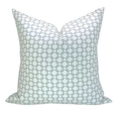 "Schumacher Betwixt pillow cover in Zinc/Blanc-18"" x 18"" -Insert sold separately - Etsy"