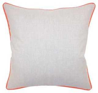 Dakota 22x22 Cotton Pillow - One Kings Lane