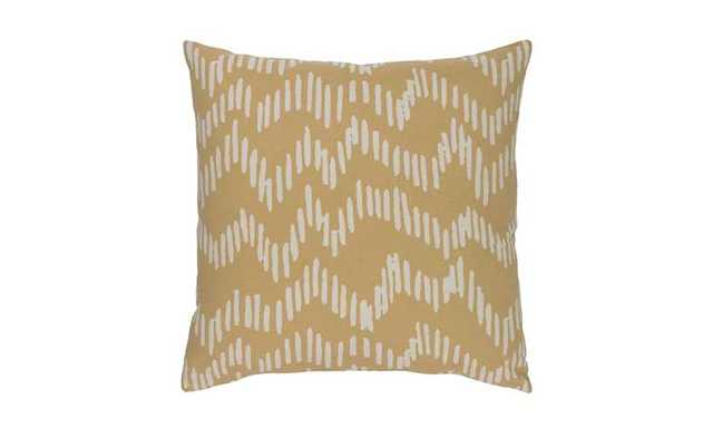 "Somerset Pillow-Mocha/Beige - 18""x18"" - Joybird"