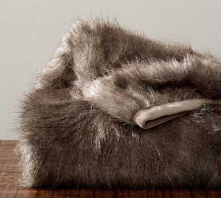 Feather Faux Fur Throw - Pottery Barn