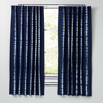"96"" Blue Tie-Dye Curtain - Land of Nod"