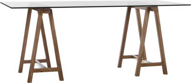 "Foundry 72"" trestle table - CB2"