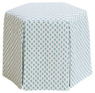 Nora Skirted Ottoman - One Kings Lane