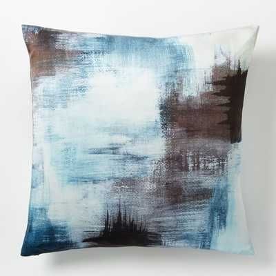 "Painterly Texture Pillow Cover - Blue Teal- 20""sq - Insert sold separately - West Elm"