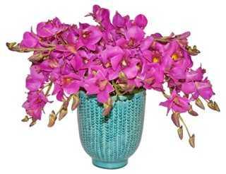 "20"" Orchid Arrangement in Vase, Faux - One Kings Lane"