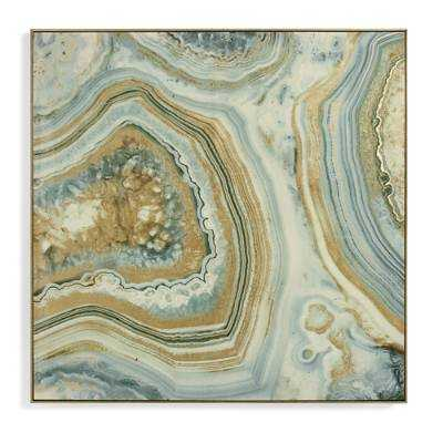 "Marble Wall Art-36"" x36""-framed - Grandin Road"