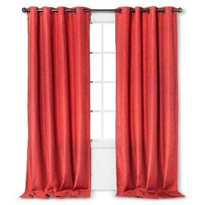 "Basketweave Curtain Panel - Coral Starfish - 54""W x 95""L - Target"