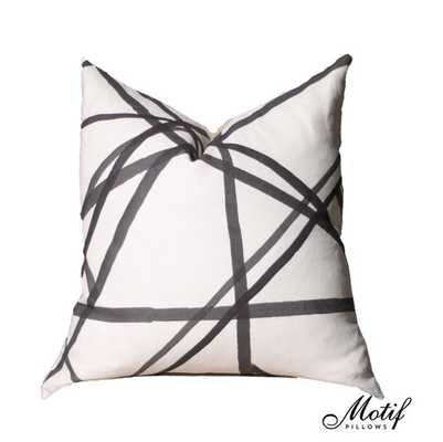 Kelly Wearstler Channels Pillow Cover - Ivory Ebony - Black and Off White Pillow - Etsy