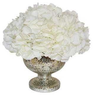 """13"""" Hydrangea Bouquet in Vase, Faux - One Kings Lane"""