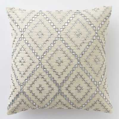 Embellished Diamonds Pillow Cover - West Elm