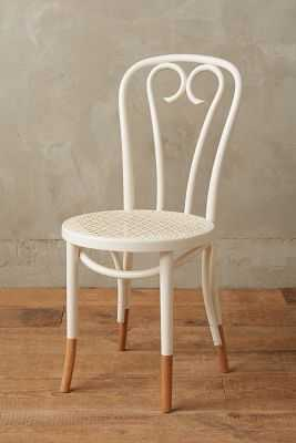 Scrolled Bentwood Dining Chair, Heart - Cream - Anthropologie