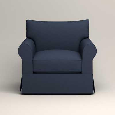 Jameson Chair - Griffin Commodore Twill - Wayfair