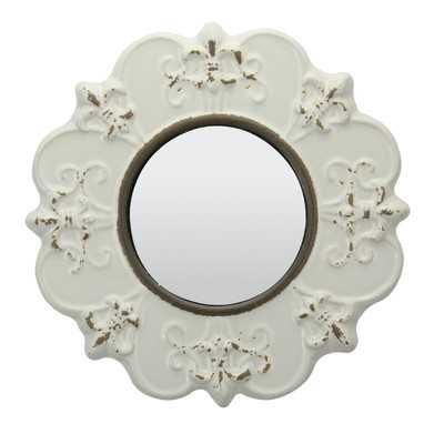 Parisian Worn Ceramic Distressed Wall Mirror (Set of 2) - Wayfair
