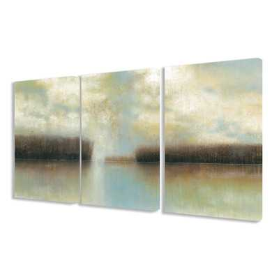 Winter Solace 3 pc Wrapped Canvas Wall Art Set - Wayfair