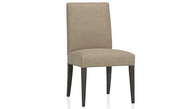 Miles Upholstered Dining Chair - Ivory - Crate and Barrel