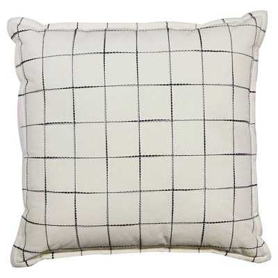 "Thresholdâ""¢ Gray Grid Pillow 18"" x 18"" with  polyester fill - Target"