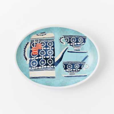 Collector's Editions Plates - Navy Tea Pot + Cups - West Elm