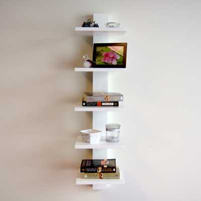 "Spine 37.75"" Leaning Bookcase - AllModern"