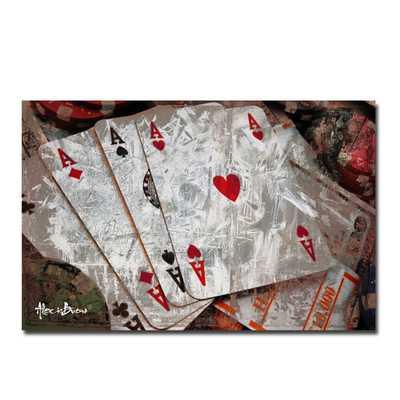 Poker II' Canvas Wall Art - Wayfair