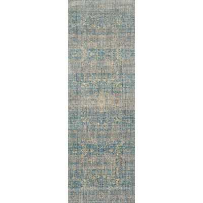 """Anastasia Light Blue & Mist Area Rug - 2'7"""" x 8' - Wayfair"""
