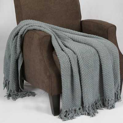 Tweed Knitted Throw Blanket - Wayfair