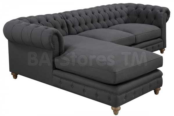 Cambridge Linen Sectional - Dot & Bo