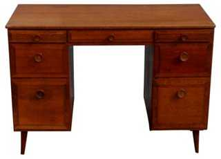 Midcentury Danish-Style 7-Drawer Desk - One Kings Lane