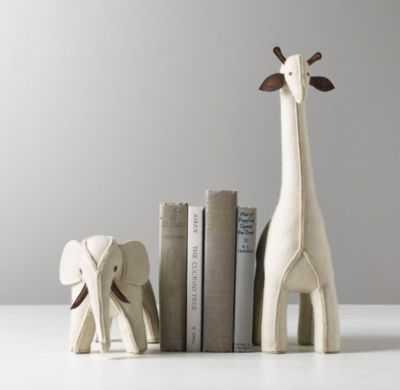 Wool felt animal bookend - Elephant - RH