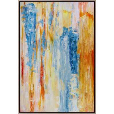 Striation Framed Painting Print on Canvas - 70x48, Framed - Wayfair