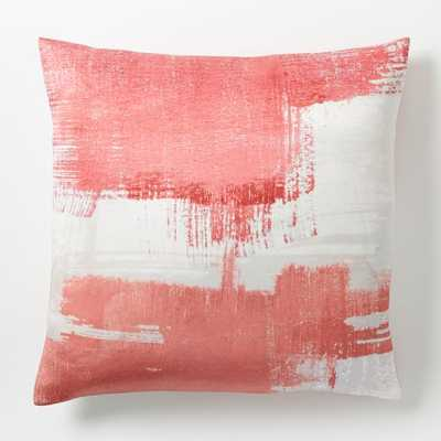 "Painterly Texture Pillow Cover-20""Sq. Poppy-Insert sold separately - West Elm"
