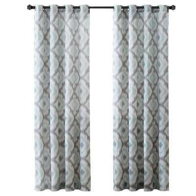 "Ankara Single Curtain Panel - Aqua/84"" L x 50""W - Wayfair"
