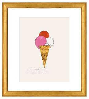 Andy Warhol, Ice Cream Dessert- Framed - One Kings Lane
