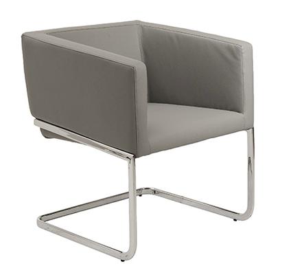 Cecilia Lounge Chair GRAY/CHROME - AllModern