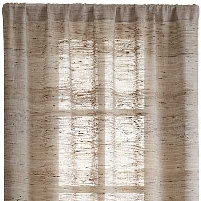 "Hayden 48""X84"" Silk Curtain Panel - Crate and Barrel"