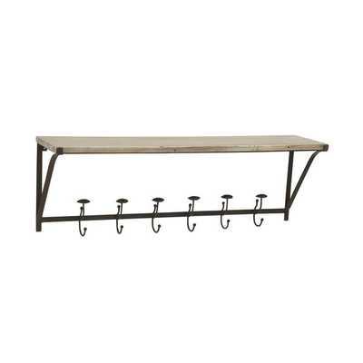 Splendid Metal Wood Wall Hook - Overstock