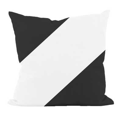 "Bold Stripe Throw Pillow- 16""H x 16""W- Black and white- Polyester/Polyfill insert - Wayfair"