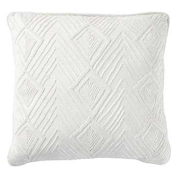 """Deco Pillow 18"""" - White - Feather/Down Insert - Z Gallerie"""