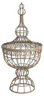 Wire-Basket Finial - One Kings Lane