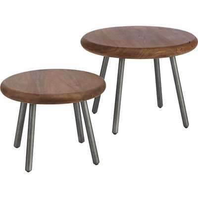 2-piece wafer table set - CB2