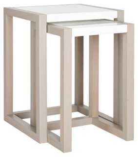 Natural Elsie Nesting Tables, Set of 2 - One Kings Lane