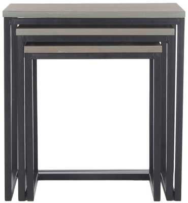 Kaleb Stacking Tables, Ash Grey - Tressle