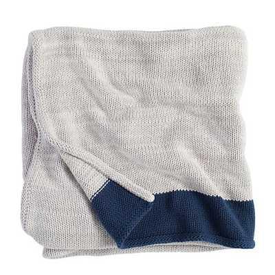 Underline Blanket ( Blue) - Land of Nod