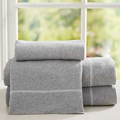 Favorite Tee Sheet Set - Full - Heathered Gray - Pottery Barn Teen