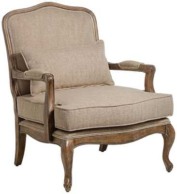 Ducey Beige Accent Chair - Lamps Plus