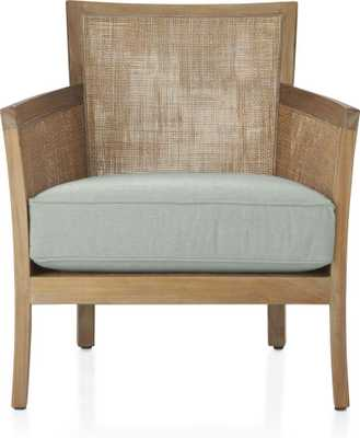 Blake Grey Wash Chair with Fabric Cushion-Spruce - Crate and Barrel