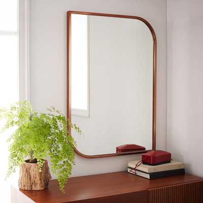 Metal Framed Wall Mirror - Rose Gold - West Elm