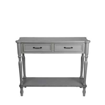 Privilege Grey 2-drawer Console - Overstock